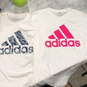 2 Adidas Shirts sz XS